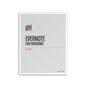 Evernote for Windows setup-gtd